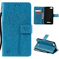 CaseFirst Wiko Lenny 2 Wallet Leather Case with Protective Durable PU Leather Shell Folio flip Cell Phone Cover Bag with Card Slots,Cash Pocket,Blue
