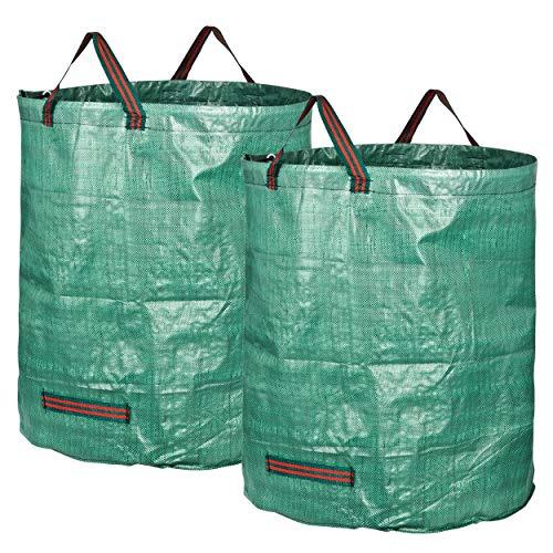 GardenMate 2X Gartensack 272l aus robustem Polypropylen-Gewebe (PP) 150gsm