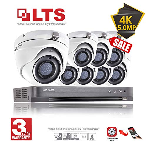 8CH Hikvision 5MP CCTV Security System 8x LTS Cameras CMHT1352N 4K  Resolution DS-7208HUHI/K1 DVR + 2TB HDD (Full Kit + 8x Cameras + 2TB)