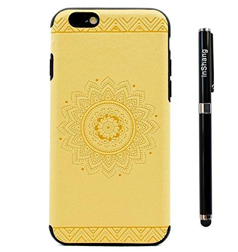 Custodia inShang cover per iPhone 7 4.7 Cellulare,super slim e leggero TPU materiale Cover posterior stili per iPhone7 4.7 inch + inShang Logo pennino di alta classe Yellow printing