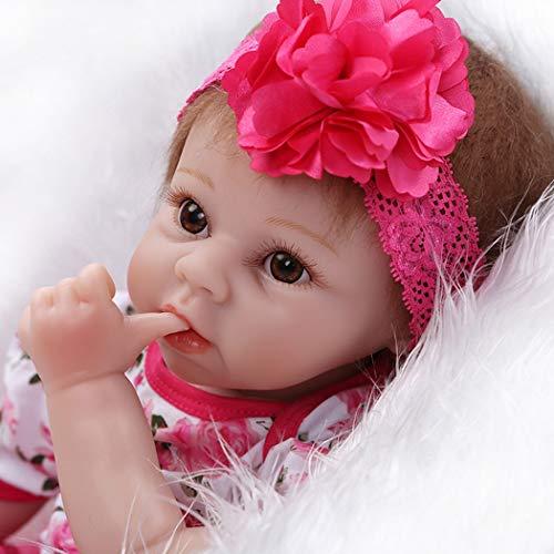 ZIYIUI Bambole Reborn Baby 22 Pollici Realistica in Silicone Bambino Vinile Bambola Reborn 55 Centimetri Magnetica Bocca Reborn Ragazza Giocattolo