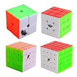 MZStech Ciclón Boys Cubo mágico Set 4 Pack 2x2x2 3x3x3 4x4x4 5x5x5...