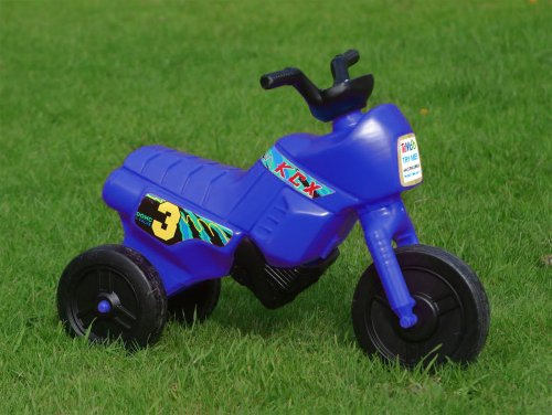 Kiddie Bikes, Light bike, Ride-on toddler bike, Push along motorbike (for ages 1-2, Mini Blue)