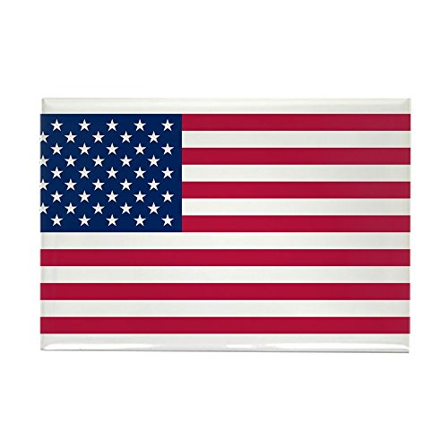 CafePress-Rechteckiger Magnet für Kühlschrank, 5x 7,6cm, Motiv Flagge USA mit den 50Sterne. -