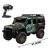 1:10 Simulation Pickup haute vitesse RC voiture télécommandée Modification du modèle de bricolage (Color : Green)