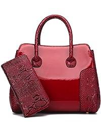 Amazon.it  Borsa in vernice - Borse Tote   Donna  Scarpe e borse 3e01388b1c98