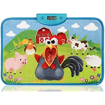 cockrel carpet alarm clock outabed stand or run on the carpet for 10 seconds to disable alarm encourage your child to wake up