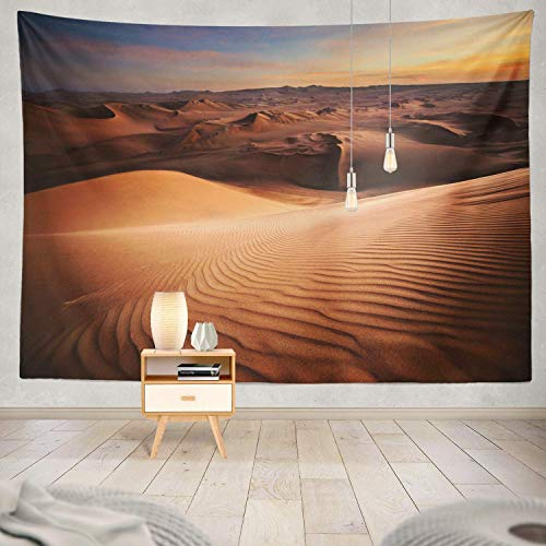 gthytjhv Tapisserie Decor Collection, Desert Desert Sand Sunset Bedroom Living Room Dorm Wall Hanging Tapestry Polyester & Polyester Blend -