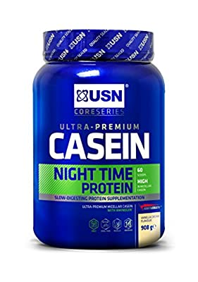 USN Casein Night Time Protein, Vanilla, 908 g from USN