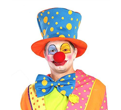 nge Blau Lustig Hut Clown Kostüm Erwachsene Zubehör Fasching Party ()