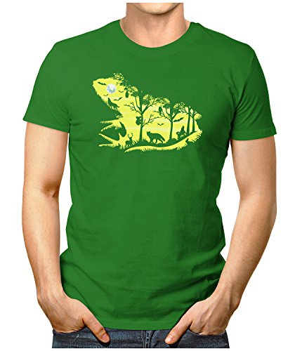 PRILANO Herren Fun T-Shirt - FROGGY-NIGHT - Small bis 5XL - NEU Grün