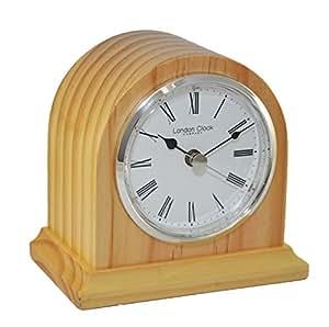 London Clock Oak Finish Arch Mantel Clock Kitchen Home