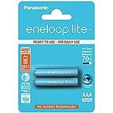 Panasonic Eneloop Lite - Pack 2 pilas AAA recargables