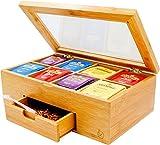 Bambus Tea Box, Teekiste,Nice Tea Bag Aufbewahrungstruhe mit Expandable...