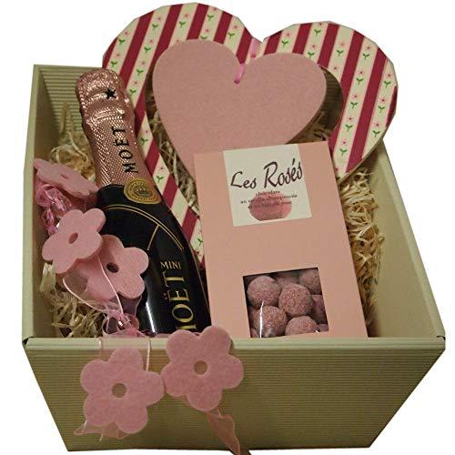 Mini Moet Geschenk-Set zum Muttertag mit Piccolo Champagner und Pralinen aus Frankreich Champagner-set