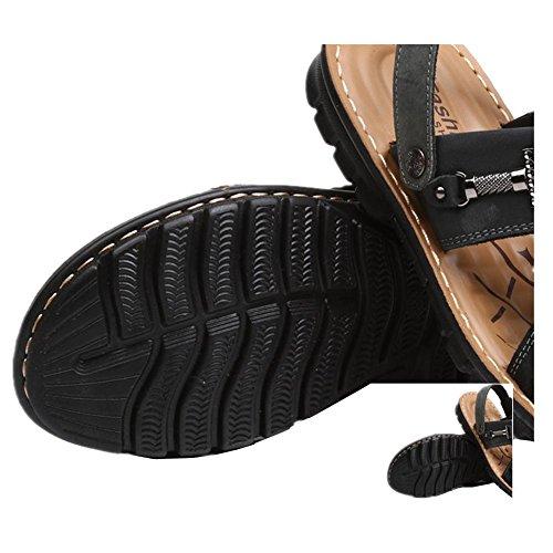 2017 nuovi sandali degli uomini casuali dei pistoni vera pelle di vacchetta Scarpe estivi uomo sandali di cuoio esterni 2