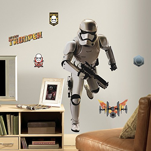 Thedecofactory RMK3150GM Stickers Star Wars EP VII Stormtrooper GÌANT ROOMMATES REPOSITIONNABLES (113X56CM), Vinyle, Multicolore, 104 x 46 x 0,1 cm