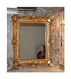 Lnxp WANDSPIEGEL BAROCKSPIEGEL Spiegel in Gold 56X46 cm Renaissance Opulenter PRACHTVOLLER Nostalgie Antik Barock REPRO BAROCKSTIL