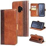 KAMILEO Samsung S9 Hülle Leder Wallet Tasche Flip Case Handyhülle Schutzhülle