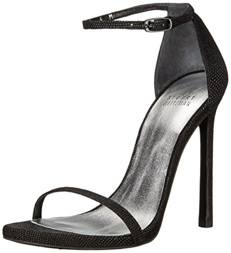 Stuart Weitzman Damen Nudist, Black Goosebump, 37.5 EU Stuart Weitzman Bridal Shoes