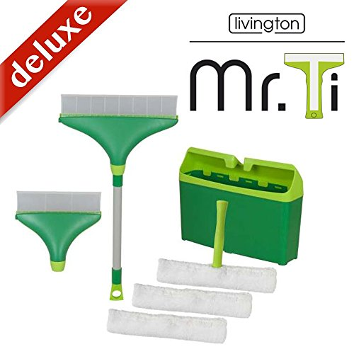 Mr. Ti Deluxe Fensterreinigungssystem inkl.1 kleiner + 1 großer Mr.Ti + viel Zubehör - Das Original aus dem TV von Mediashop