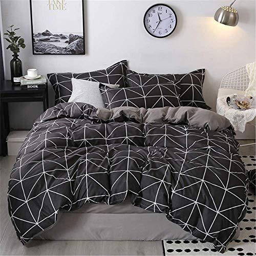 SHJIA Bettwäsche Set Nordic Tröster Tagesdecke Doppel Set Bettbezug Königin König Erwachsene Bettwäsche Set F 220x240cm -