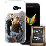 dessana Beste Freundin Handyhülle Personalisiertes Geschenk dünne Silikon TPU Case Eigenes Foto Motiv für Samsung Galaxy A3 (2017) Ohne Text