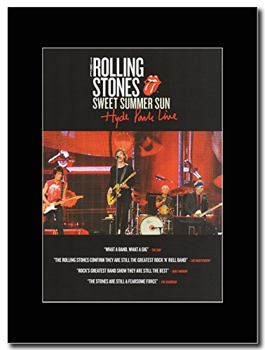 The Rolling Stones - Sweet Summer Sun Hyde Park Live Magazine Promo on a Black Mount