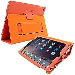 Étui iPad 3 & 4, Snugg™ - Housse de Protection en Cuir Orange, Style Smart Case Avec Garantie à Vie Pour Apple iPad 3 et iPad 6
