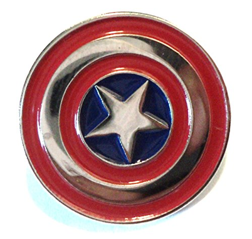 Captain America Shield Insignia Logo Iconic Emblem Metal Enamel Badge