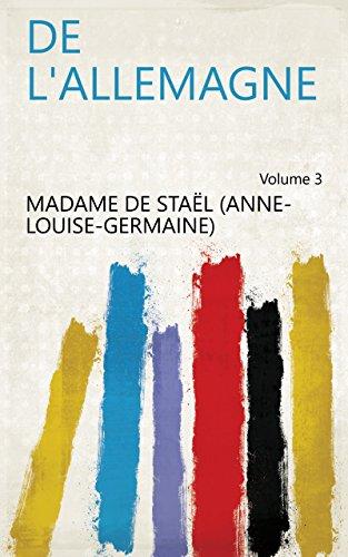 De l'Allemagne Volume 3 (French Edition)