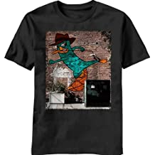 Phineas & Ferb Perry Wall Black Camiseta | XXL