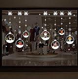 QTXINGMU Wall Sticker Weihnachten Crystal Ball Hängende Kette Wohnzimmer Schlafzimmer Dekoration Weihnachten Wall Sticker Abnehmbar