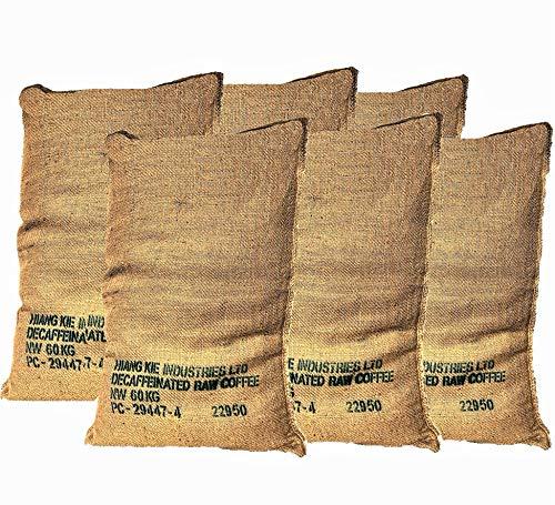 Jutesack Gross für Pflanzen Kaffee-Recycling - Packung mit 6 Einheiten von 70X100 60K xxl - Gwinterschutz - Kartoffelsack - Sandsäcke