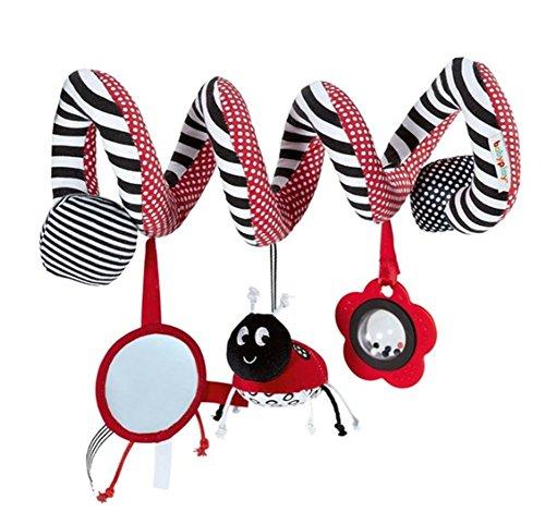 Juguetes Espiral de Actividades Lindo Infantil Babyplay Bebé 0-12 Meses Colgantes Suave de Cama y Silla de Paseo Conjunto de Juguete Cuna La Campana Sonajero BB Juguetes Para Bebés, Escarabajo