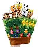Happy Cherry - Giocattoli Marionette a Guanto a Mano Cartoon Animali Pupazzi per Bambini Baby Cute Story Burattino Dita Puppets Colorato 3D - Animali