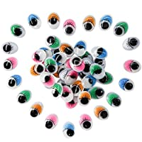 TOAOB Oval 10*13mm Mixed color Googly Wiggle Eyes with Eyelashes for DIY Scrapbooking Crafts Toy Accessories 250pcs