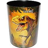 alles-meine.de GmbH Papierkorb / Behälter -  Dinosaurier - Tyrannosaurus Rex  - Incl. Name - aus..
