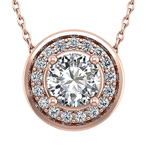 Diamond Delight Or 750 18ct or rose Rond GH Diamant blanc