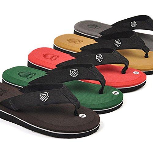 Les hommes de lété, les hommes les chaussons, tongs chaussures de plage, chaussons, chaussons daccueil 6 green