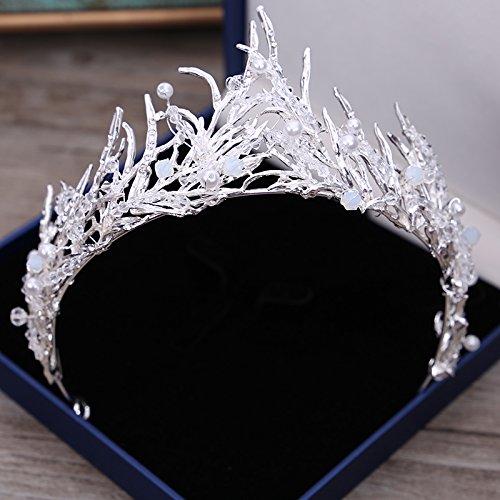XPY&DGX Bridal Hochzeit Ballsaal Haarnadel Haarschmuck,Bridal Tiara Krone Hochzeit Atmosphäre Perlen kristall Hochzeit Zubehör Haar Accessoires Schmuck, 010 (Tiara-haar-zubehör)