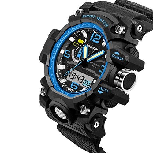 FENKOO Herren/Paar Sportuhr/Militäruhr / Smart Uhr/Modeuhr / Armbanduhr digital/Japanischer QuartzLED/Chronograph / Wasserdicht /