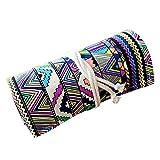 Nuolux - Astuccio portamatite colarato, in tela, con 48spazi per penne gel e matite