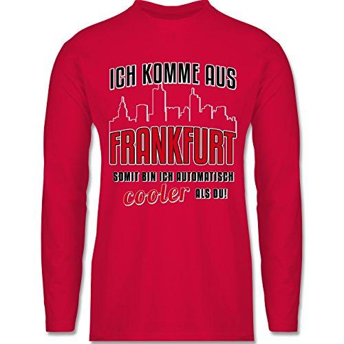 Shirtracer Städte - Ich Komme Aus Frankfurt - Herren Langarmshirt Rot