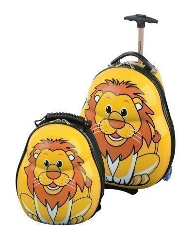Skyflite Skykidz - Set trolley e zaino per bambini, motivo: leone