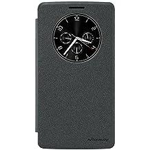 LG G Stylo / LG G4 Stylus 5.7-Inch Funda - IVSO Slim Armor Case Funda para LG G Stylo / LG G4 Stylus 5.7-Inch Smartphone (Slim Book Series - Negro)