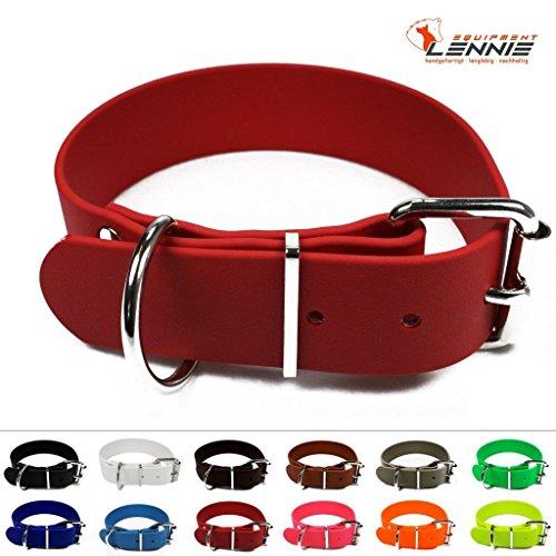 BioThane® Halsband mit Rollschnalle, 38 mm breit, 4 Längen [45-55 cm], 13 Farben [Rot]