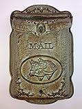 Briefkasten Satteltasche massiv Gusseisen Postkasten Wandmontage antik rustikal