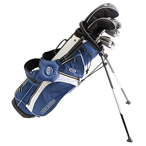 US Kids Golf USKG Tour Series TS 63-43 Komplettset (10 teilig STAHL) PVD Finish, Complete Set, 10 parts, steel, perfect golf clubs for kids, golfschläger für kinder/jugendliche (Golf Clubs Für Jugendliche)