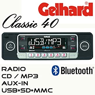 Gelhard-Classic-40-Retro-Look-RDS-Autoradio-CD-MP3-USB-SD-Bluetooth-Freisprecheinrichtung